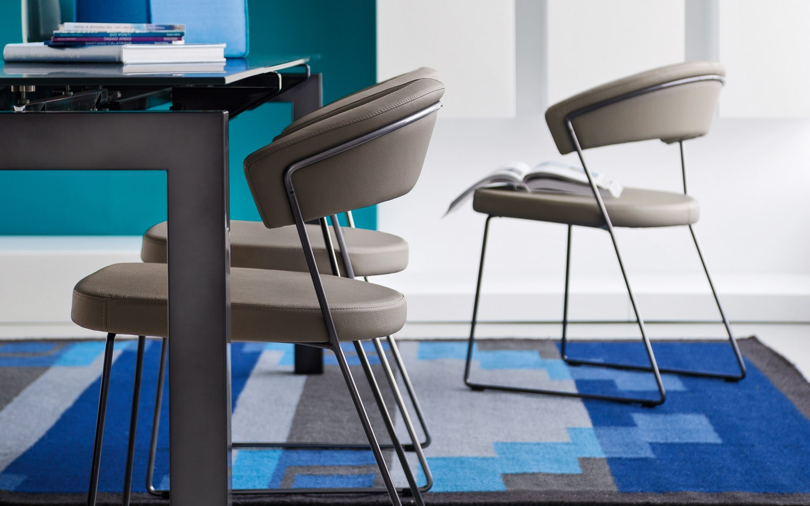 new york chair  the most comfortable dining chair ever - new york chair calligaris sled base
